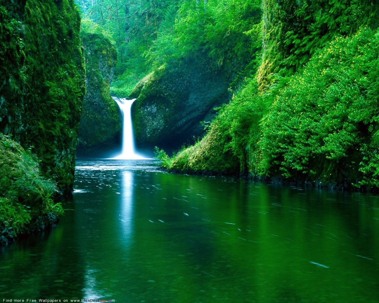 Picsdesktop nature summer background waterfall wallpaper desktop