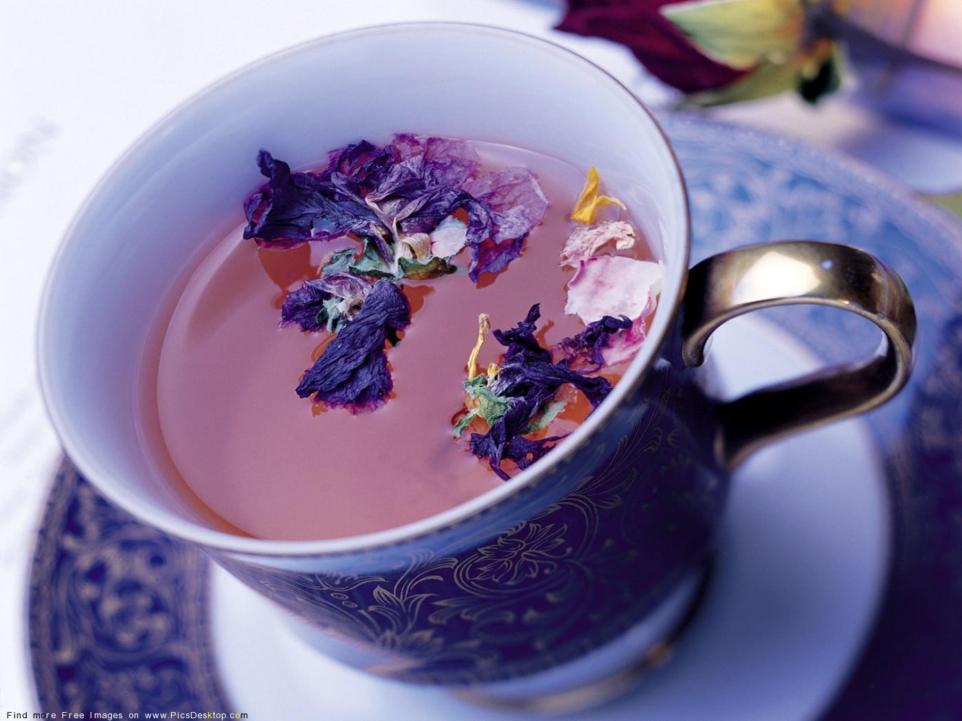 Цветочный чай 1280x1024 девушка с