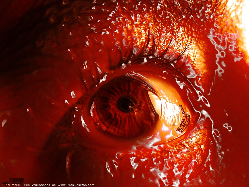 Cruel Red Eye Gothic Art Free Desktop Wallpaper Picture 22